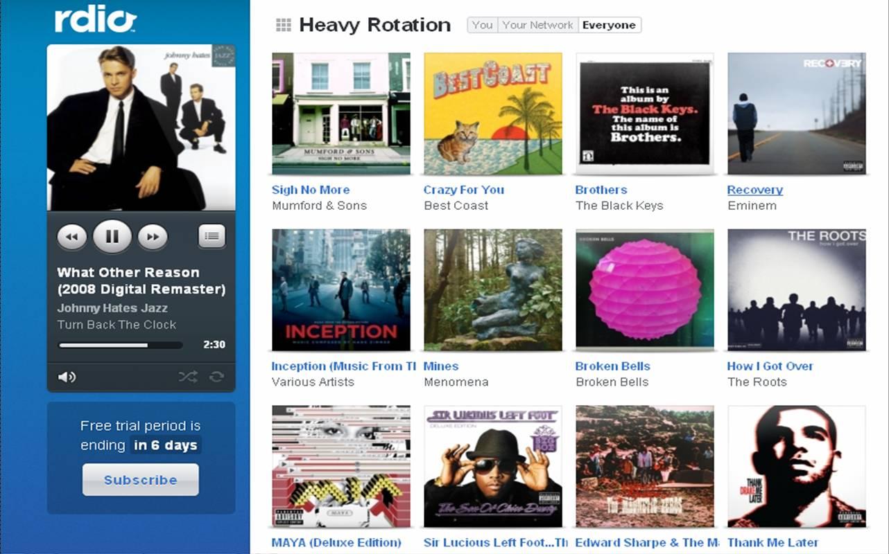 BandPage y Rdio forman alianza para ofrecer contenido