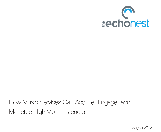 Whitepaper sobre cómo los servicios de música en streaming pueden monetizar oyentes de alto valor