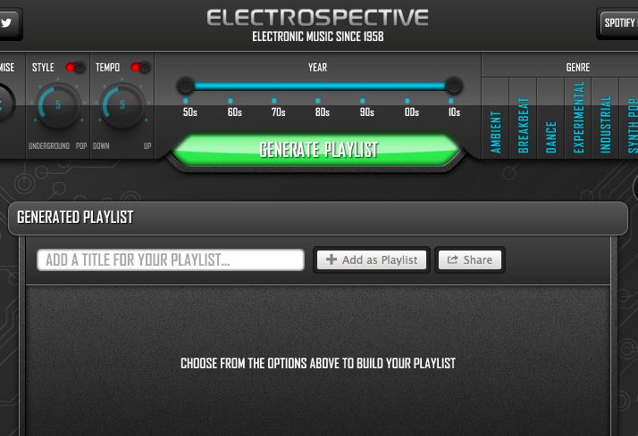 Electrospective la nueva app de Spotify