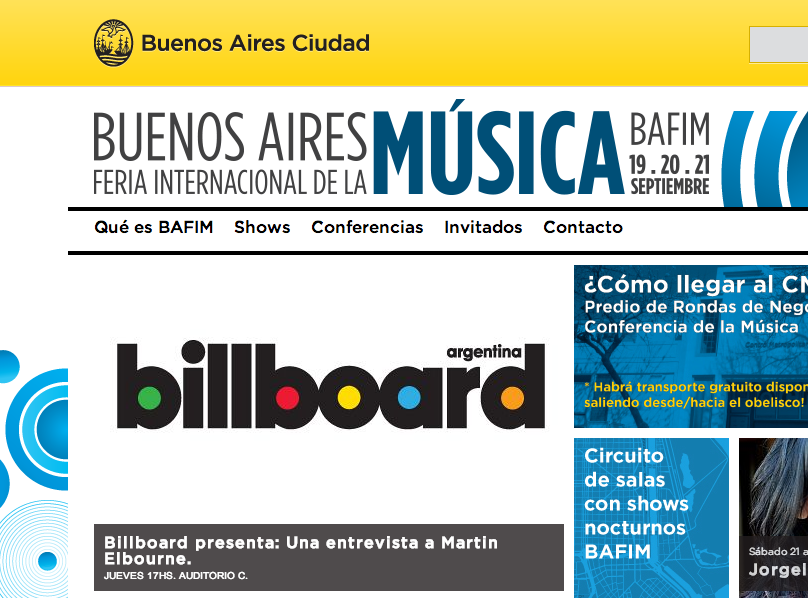 Bafim 2013 – Buenos Aires Feria internacional de la Música