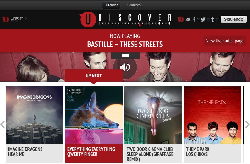 Universal Music lanza en Spotify uDiscover una app de curaduría