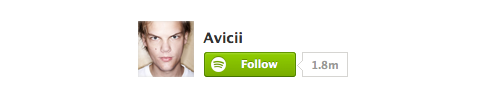 spotify botton follow