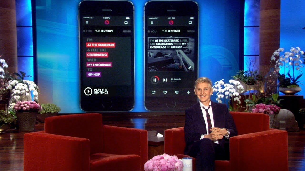 Ellen DeGeneres presenta la publicidad de Beats Music para el Super Bowl