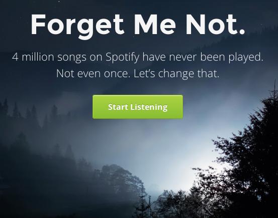 Forgotify te descubre las canciones de Spotify jamás reproducidas