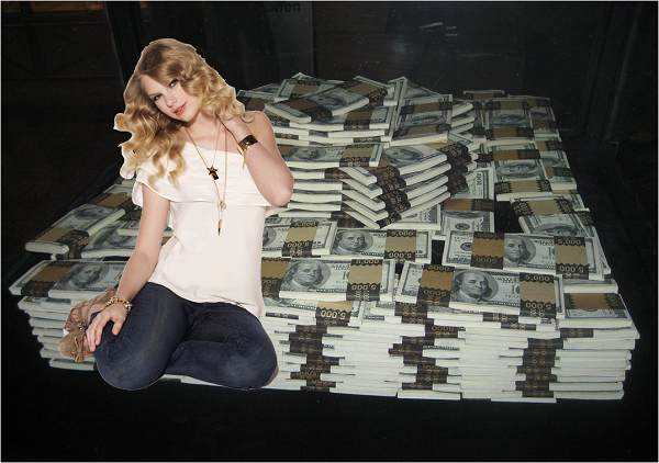 Taylor Swift no ganará este año lo que dicen por ahí ($365 millones)