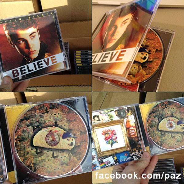 Un artista independiente sustituye 5000 discos de Justin Bieber por los suyos