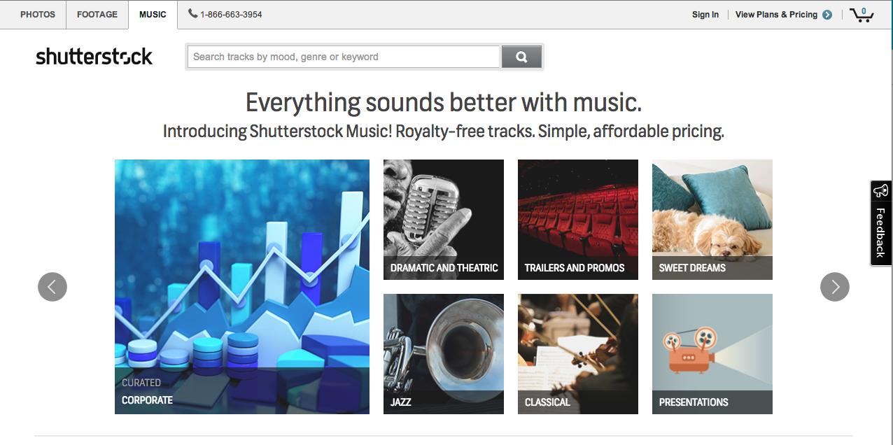 Shutterstock lanza servicio de licencias musicales