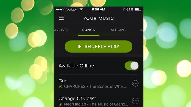 Spotify ahora permite sincronizar en un solo toque más de 3000 canciones