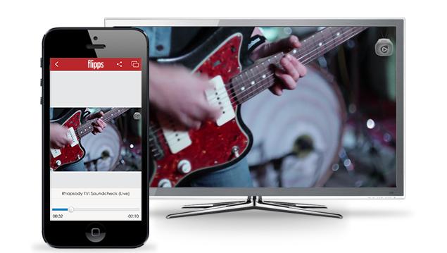 Rhapsody / Napster se integran a Flipps, la app de contenidos de TV