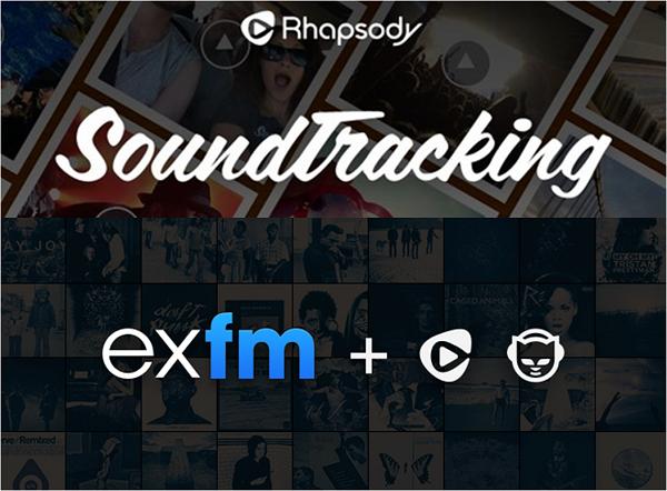 Rhapsody/Napster se repotencia con exfm y Soundtracking