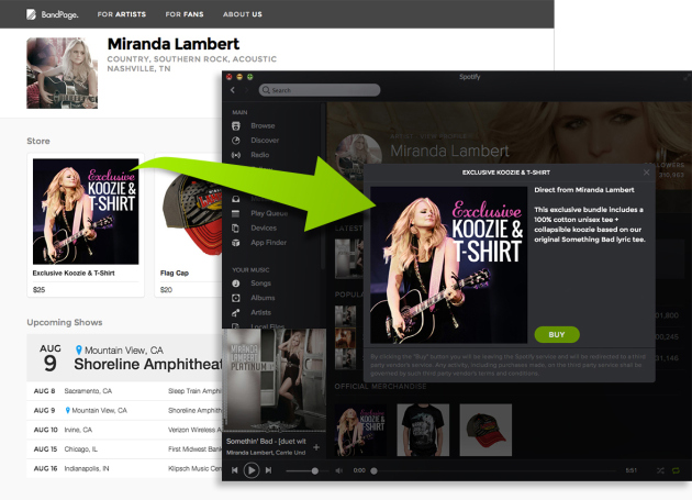 BandPage y Spotify se unen para potenciar la venta directa a los fans