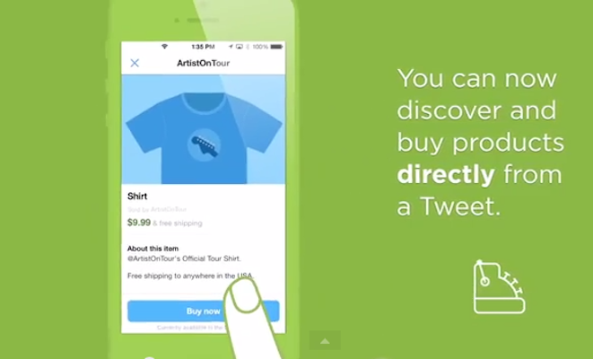 Twitter introduce el botón de compra en sus Tweets