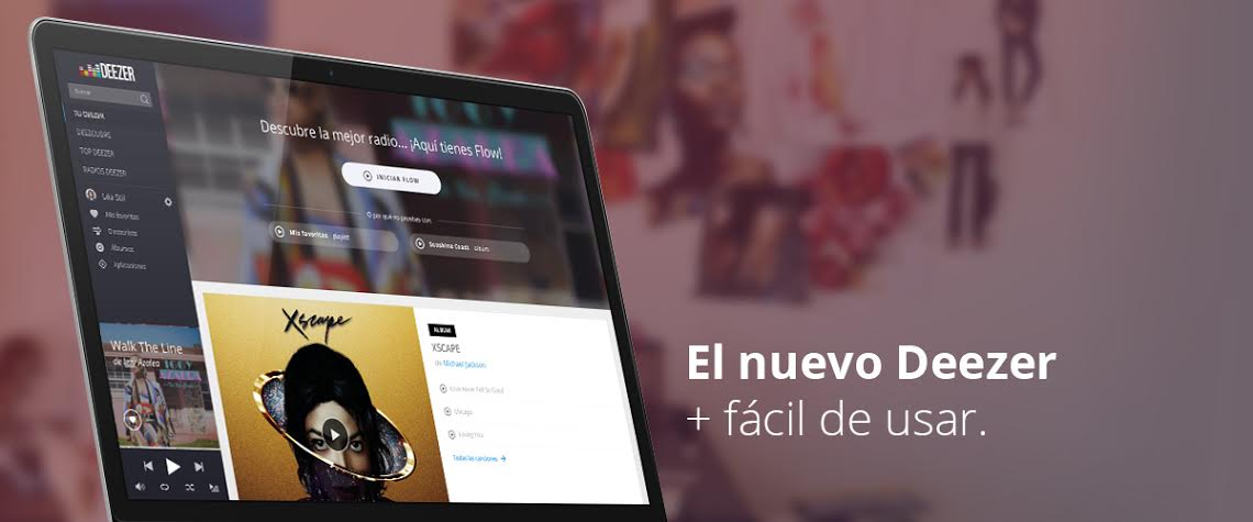 Deezer renueva su interfaz web con un diseño más limpio y elegante