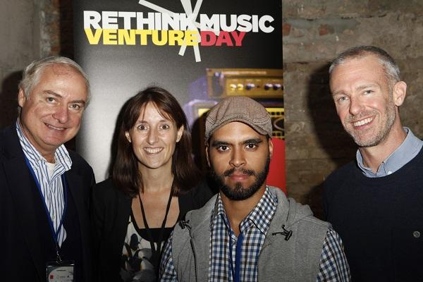 Paris L'Etraz (IE), Virginie Sautter (Midem) Angel-Navas (finalist Industria-Musical) Allen Bargfrede (Berklee College of Music)