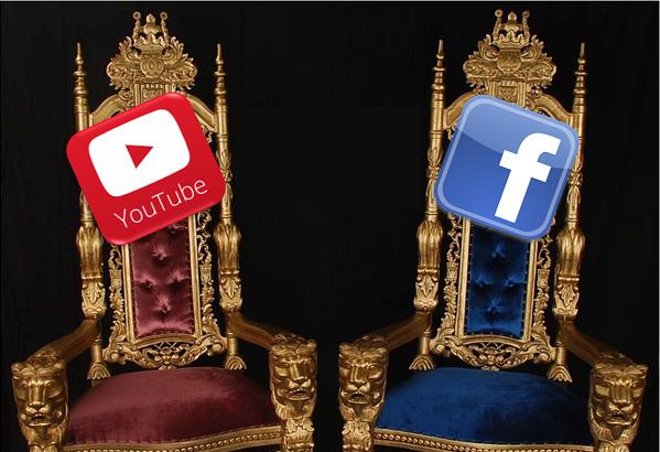 YouTube cuidado, como siga así, Facebook va camino a ser el nuevo rey del video