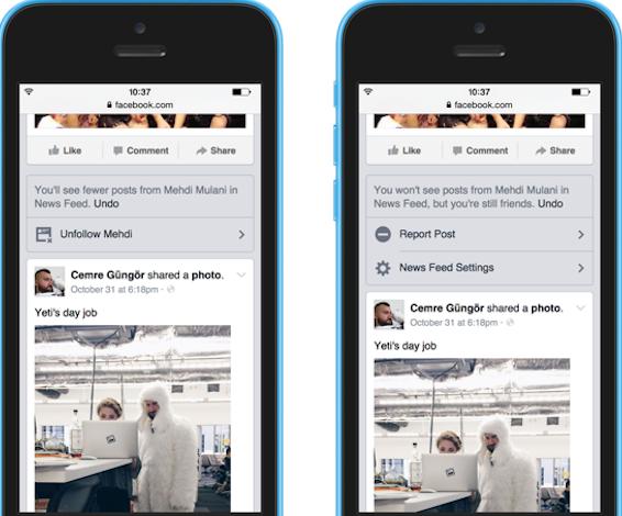 Facebook da más poder a los usuarios en la News Feed