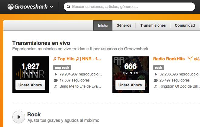 Grooveshark lanza un nuevo servicio para promover la música en directo
