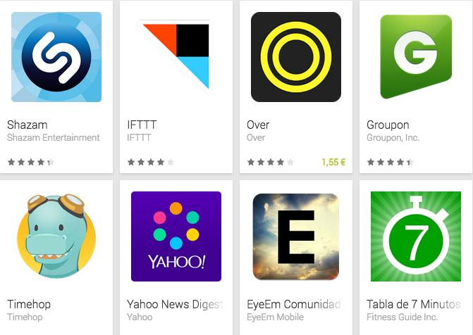 8 apps de música entre las mejores de Google en 2014