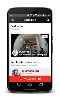 upclose app home