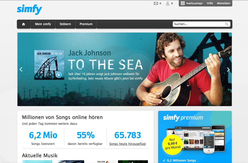 Warner retira su catálogo del servicio de streaming Simfy