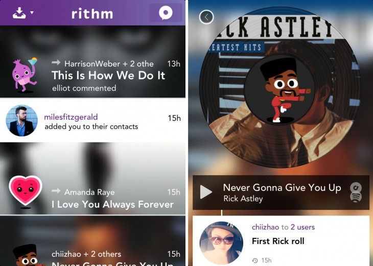 Rithm, un servicio de música en streaming y mensajería apoyado por Universal, Warner, Sony y Merlin