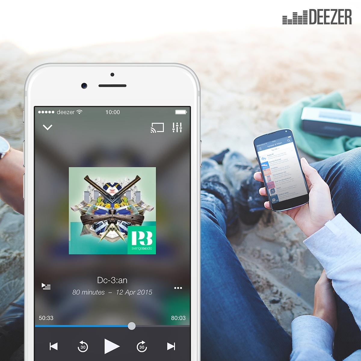 Deezer lanza oficialmente su servicio de podcasts
