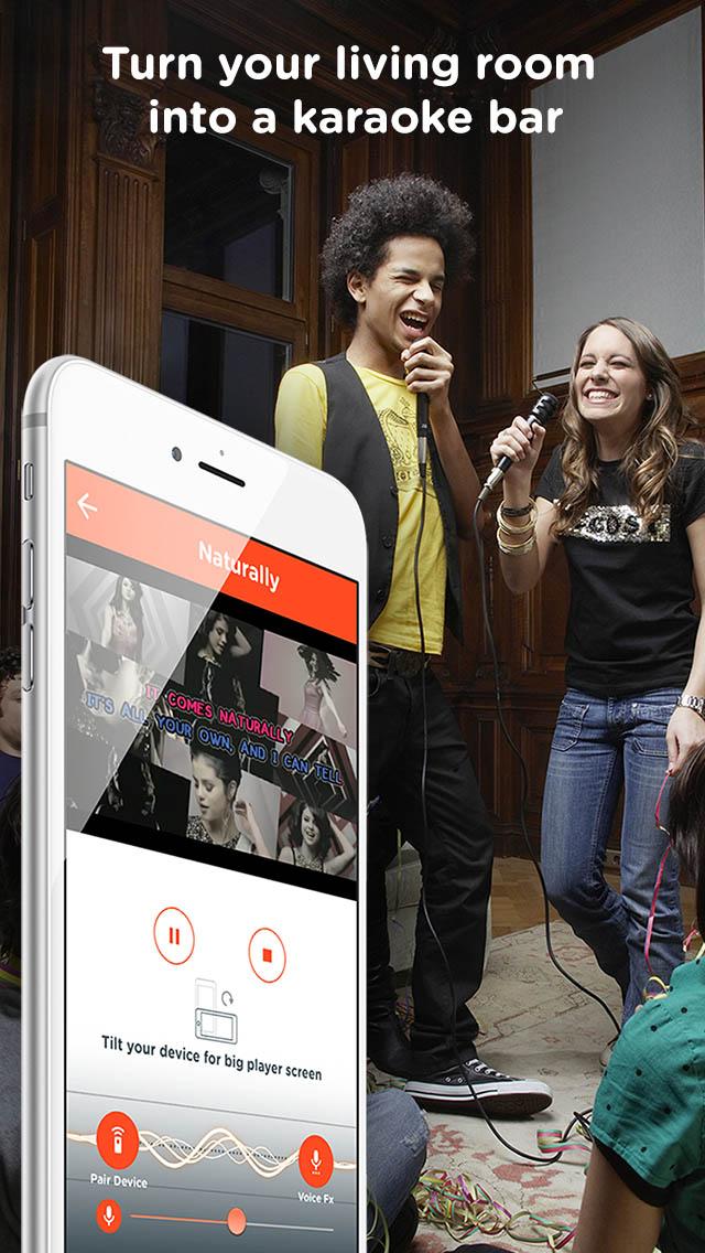 Nueva app fusiona el móvil con la televisión para ofrecer karaoke