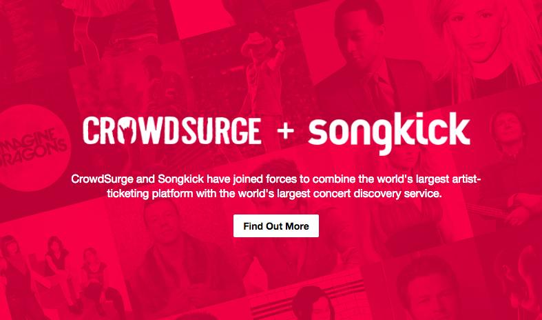 Songkick y CrowdSurge se fusionan en una única plataforma