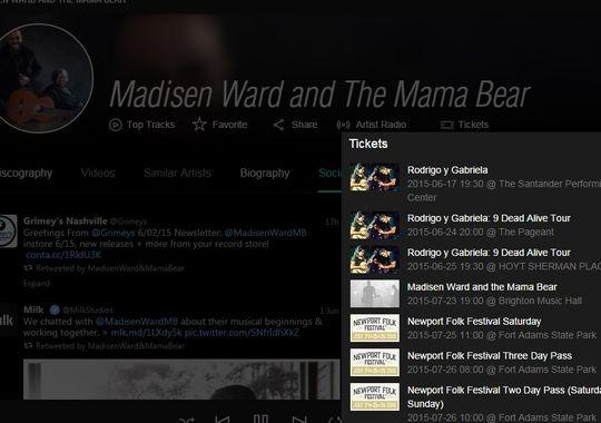Tidal lanza una integración con ticketmaster para la compra de entradas