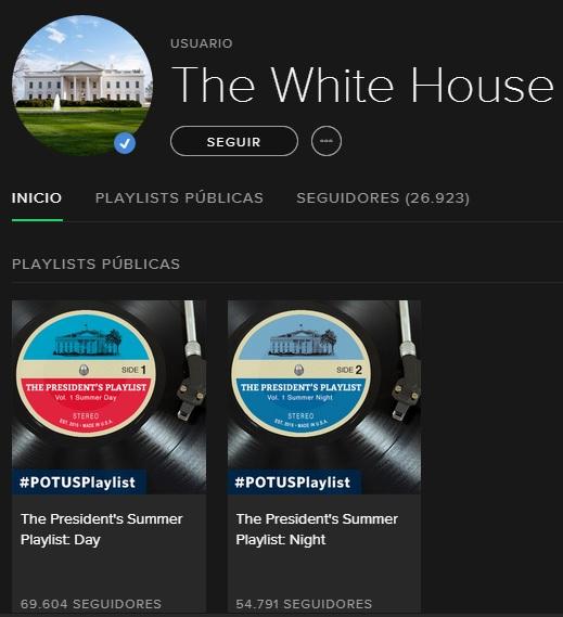 La Casa Blanca perfil Spotify