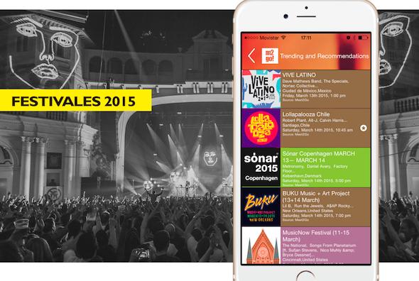 La aplicación Meet2go evoluciona como un hub de servicios en torno festivales
