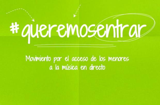 #Queremosentrar una iniciativa para que los menores vuelvan a disfrutar de los conciertos en Madrid