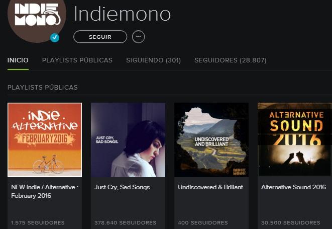 Indiemono Spotify