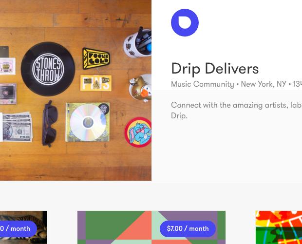 Kickstarter adquiere Drip, una plataforma de música en streaming