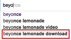 beyonce google