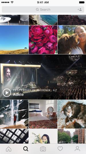 Instagram introduce un canal de Eventos en directo