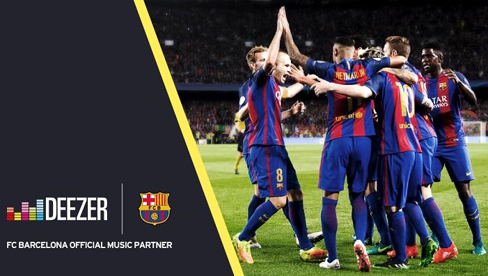 Deezer se convierte en el partner musical oficial del FC Barcelona y del Manchester United