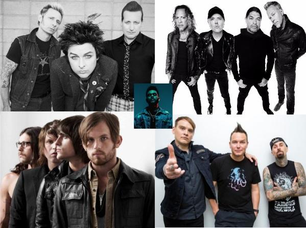 La crisis del rock en la era del streaming: Starboy supera los últimos trabajos de Metallica, Green Day, Blink 182 y Kings of Leon juntos