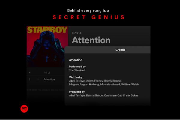 Spotify añade los créditos de compositores y productores a su plataforma