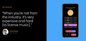 Adaptr   licencia de música   startups